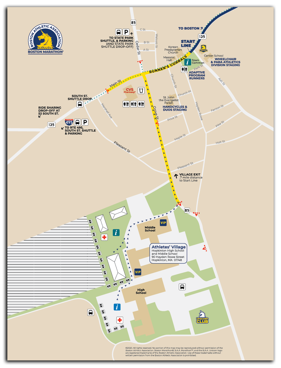 Start Area of the Boston Marathon